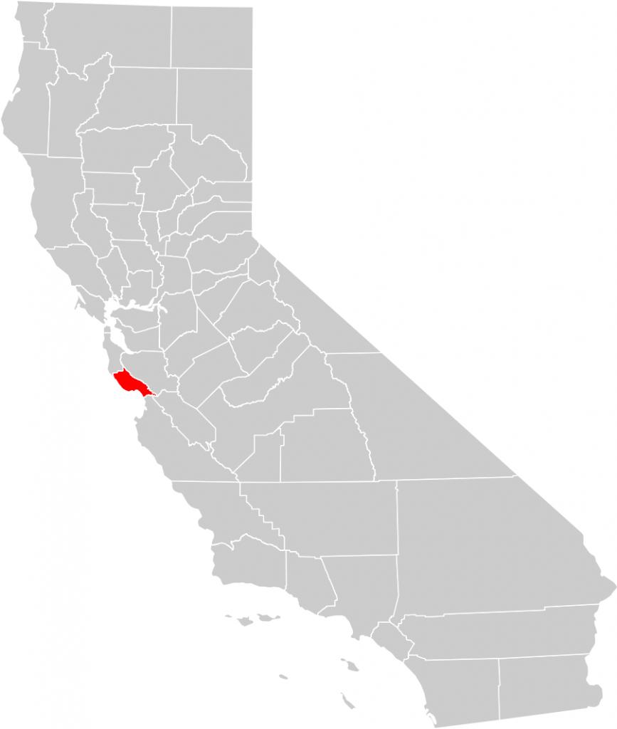 California County Map (Santa Cruz County Highlighted) • Mapsof - Santa Cruz California Map