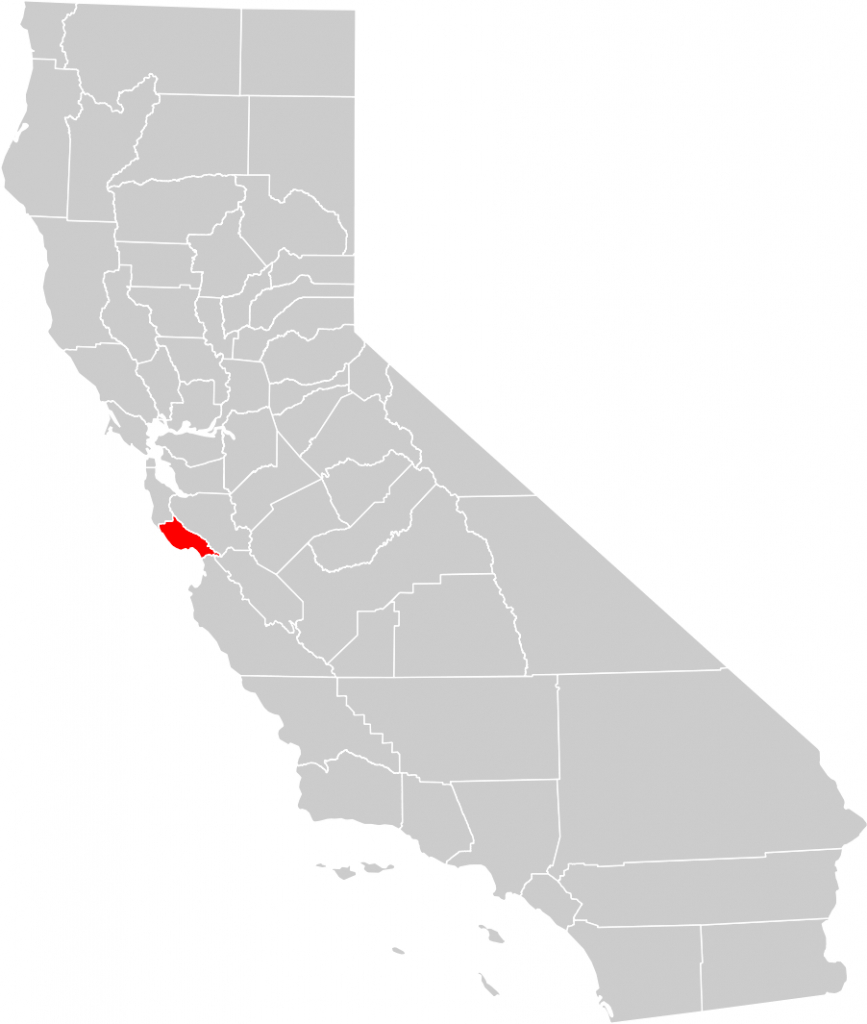 California County Map (Santa Cruz County Highlighted) • Mapsof - Where Is Santa Cruz California On The Map