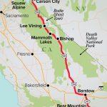 California Cruisin'  Winter's Best Road Trips 2019   Ski Mag   Best California Road Trip Map
