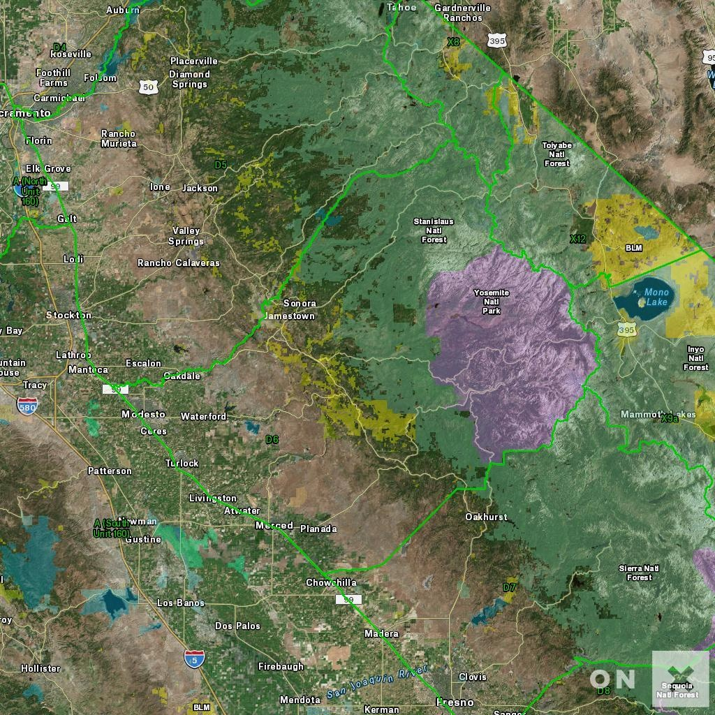 California D6 Deer Hunting Zone - Map & Information - Deer Hunting Zones In California Maps