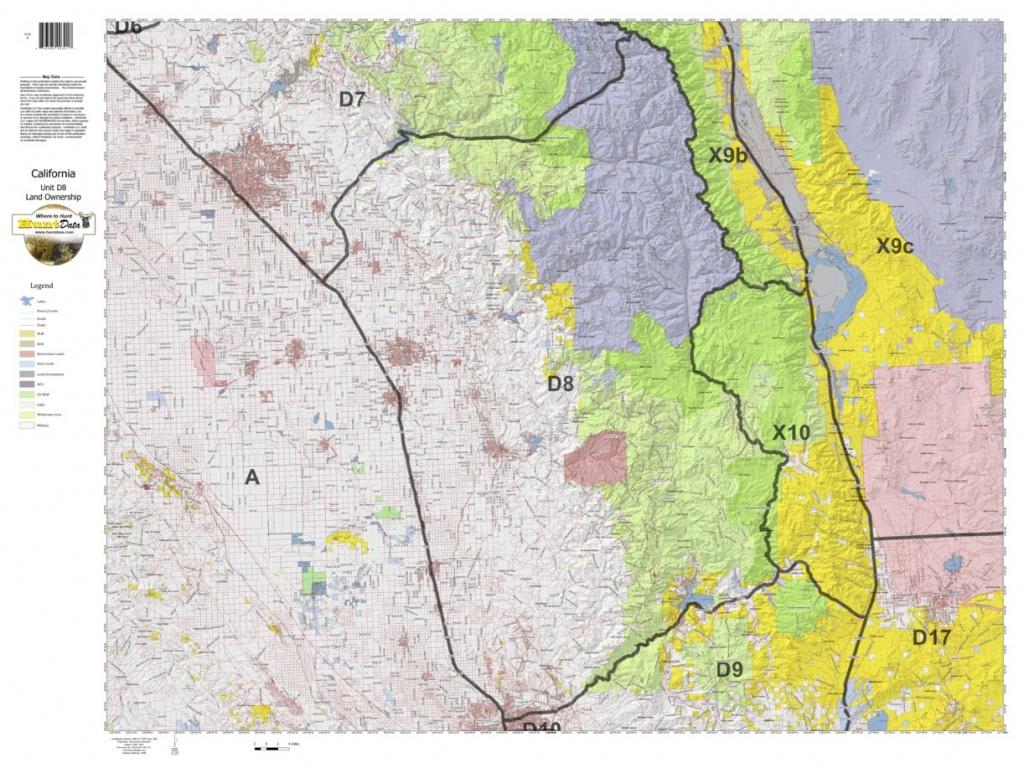 California Deer Hunting Zone D8 Map - Huntdata Llc - Avenza Maps - California Deer Zone Map 2018
