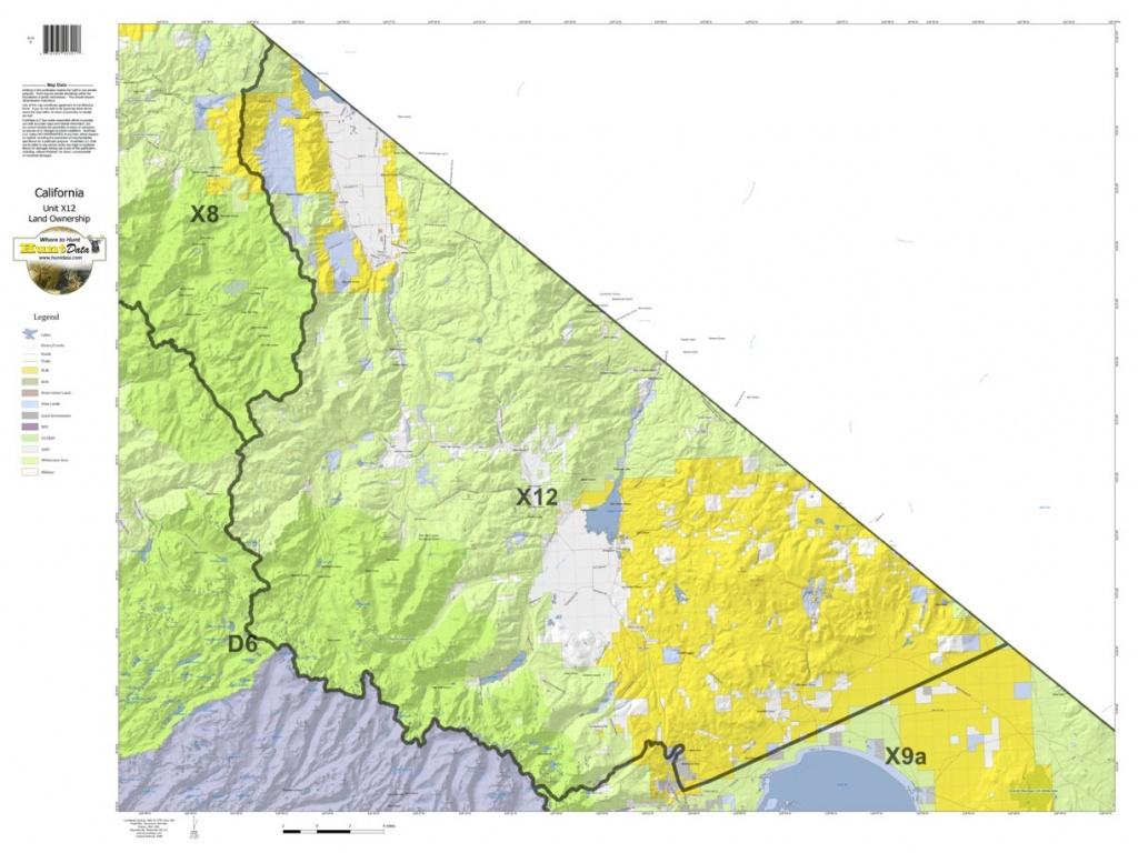 California Deer Hunting Zone X12 Map - Huntdata Llc - Avenza Maps - California Hunting Map