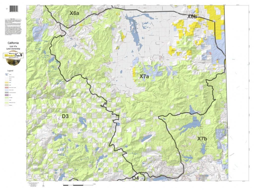 California Deer Hunting Zone X7A Map - Huntdata Llc - Avenza Maps - California Hunting Map