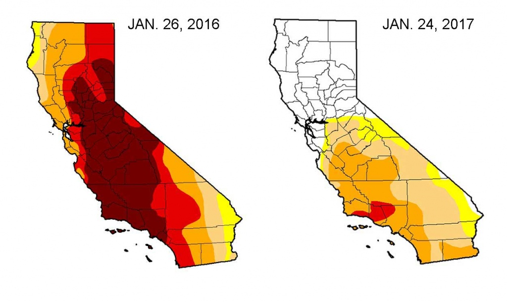 California Drought Recovery - Nbc Southern California - California Drought Map 2017