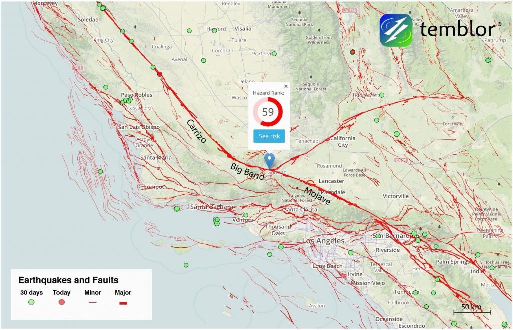 California Earthquake Faults Map Graph Fault Lines Map Map Canada - California Fault Lines Map
