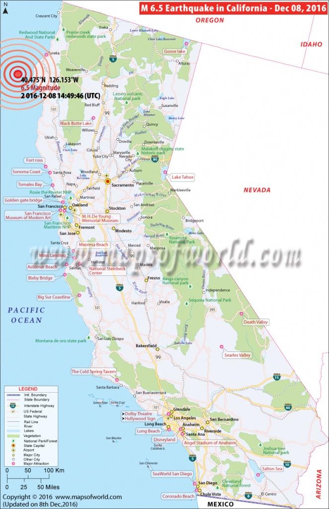 California Earthquake Map | Area Affectedearthquake In California - California Earthquake Map