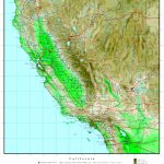 California Elevation Map   California Topographic Map