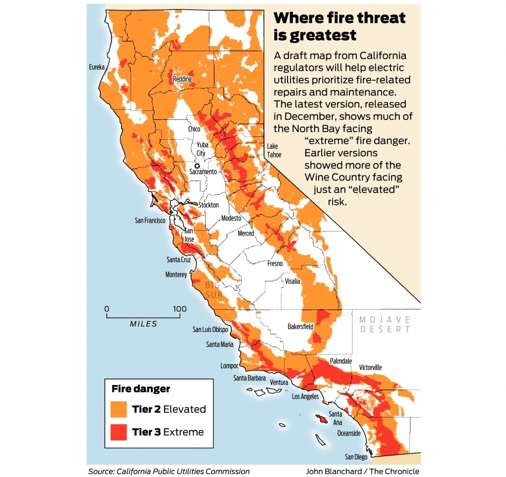 California Fire-Threat Map Not Quite Done But Close, Regulators Say - California Wildfire Map