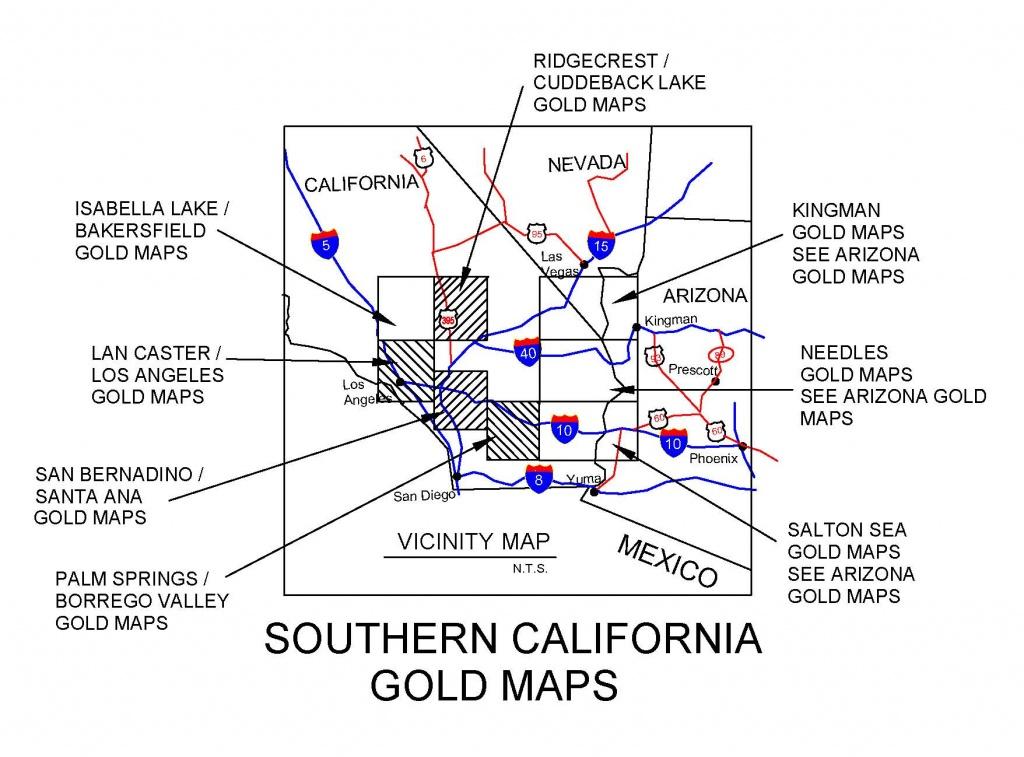 California Gold Maps, Treasure Maps, Gold Panning Maps, Gold - Gold In California Map