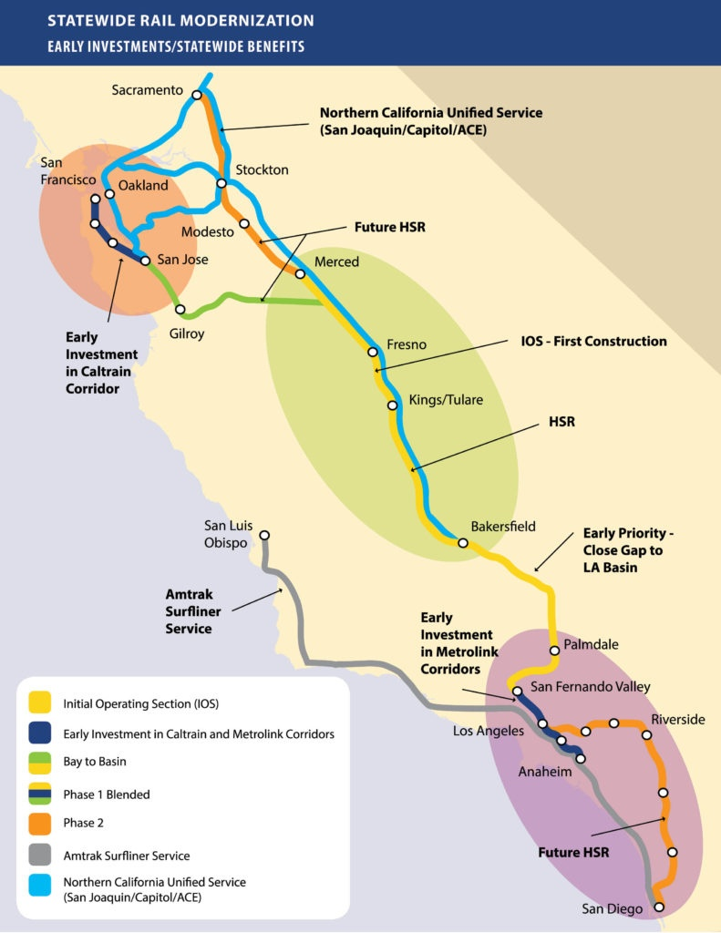 California Governor Newsome Wants To Complete High-Speed Rail From - California High Speed Rail Progress Map