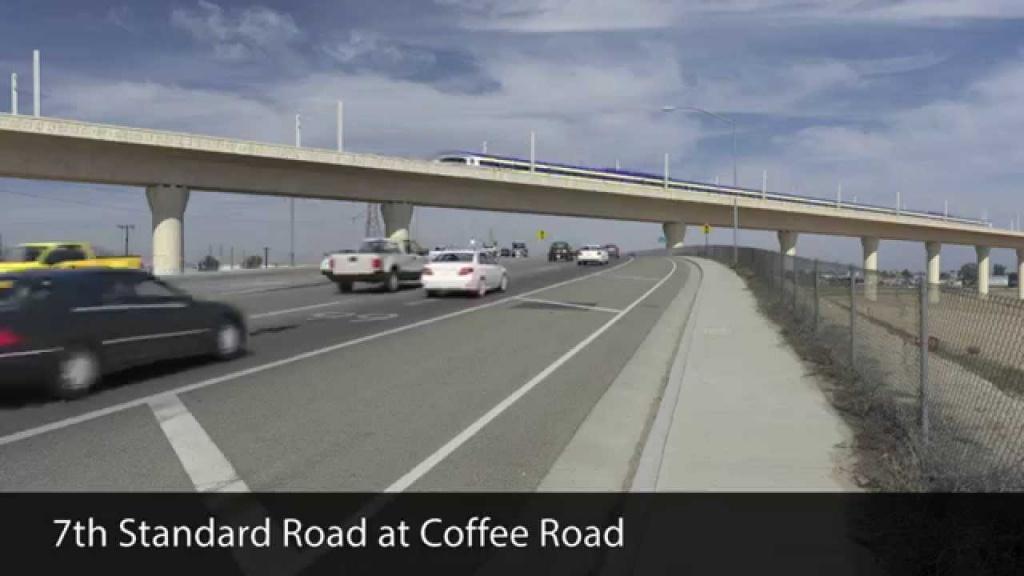 California High-Speed Rail - Bakersfield F Street Station Alignment - California High Speed Rail Progress Map