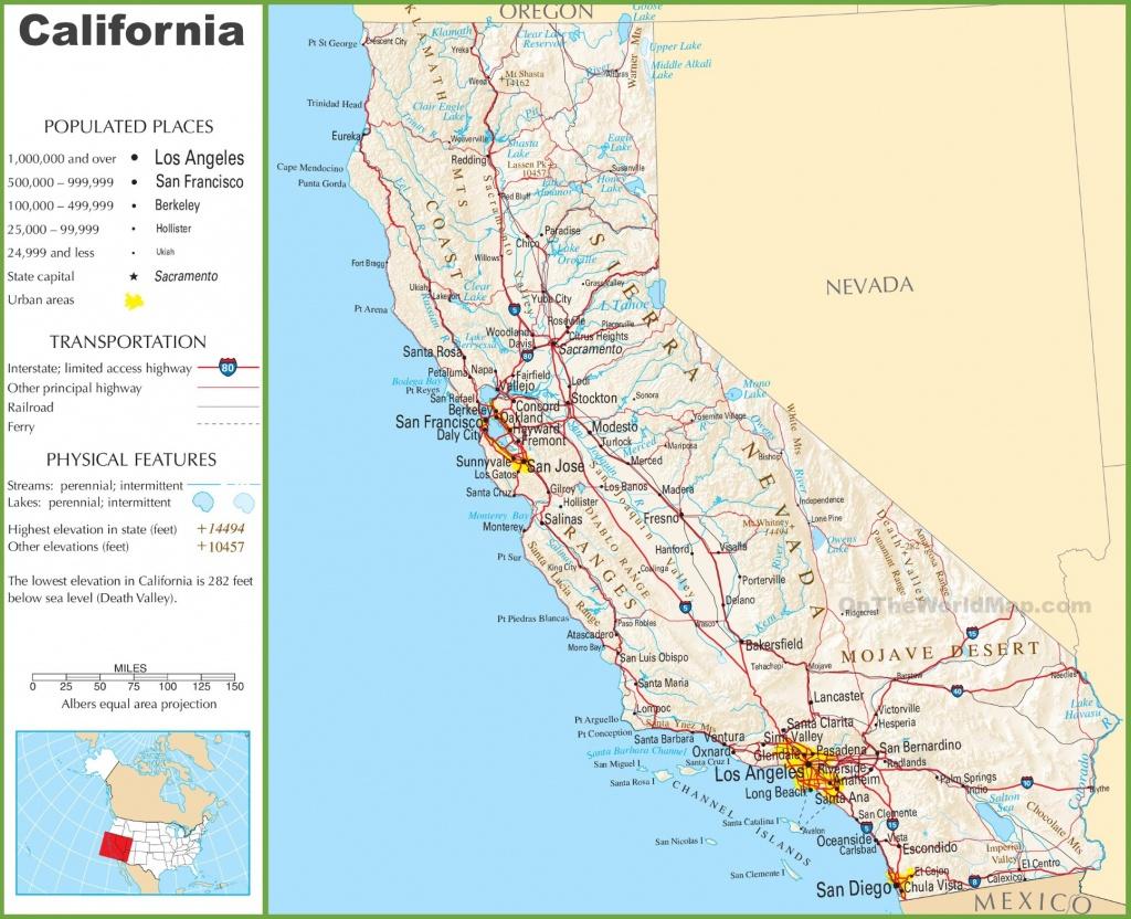 California Highway Map - California Highway Map Free