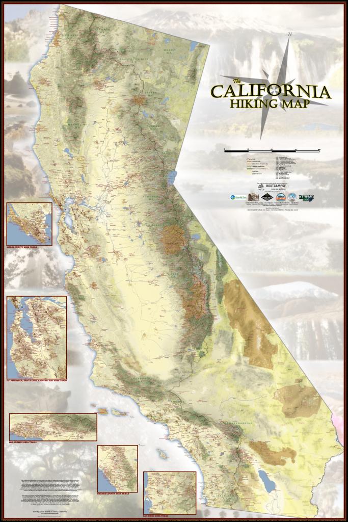 California Hiking Map - California Hiking Map