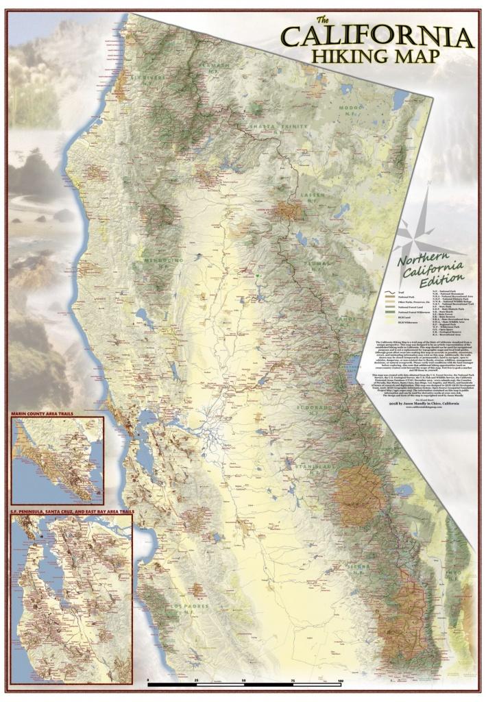 California Hiking Map - Northern California Hiking Map