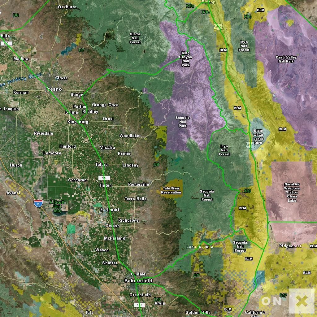California Hunt Zone D8 Deer - California Deer Hunting Map