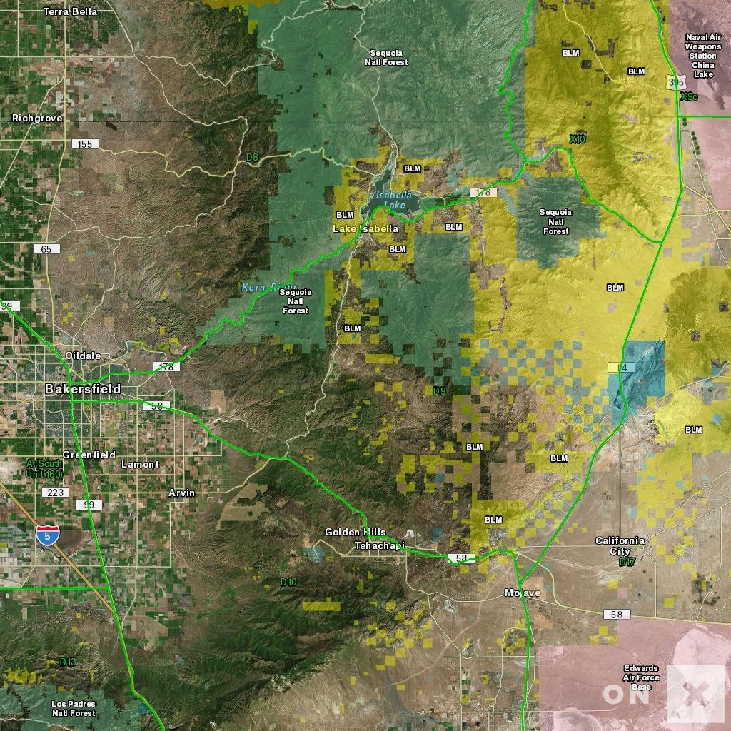 California Hunt Zone D9 Deer - California Hunting Map