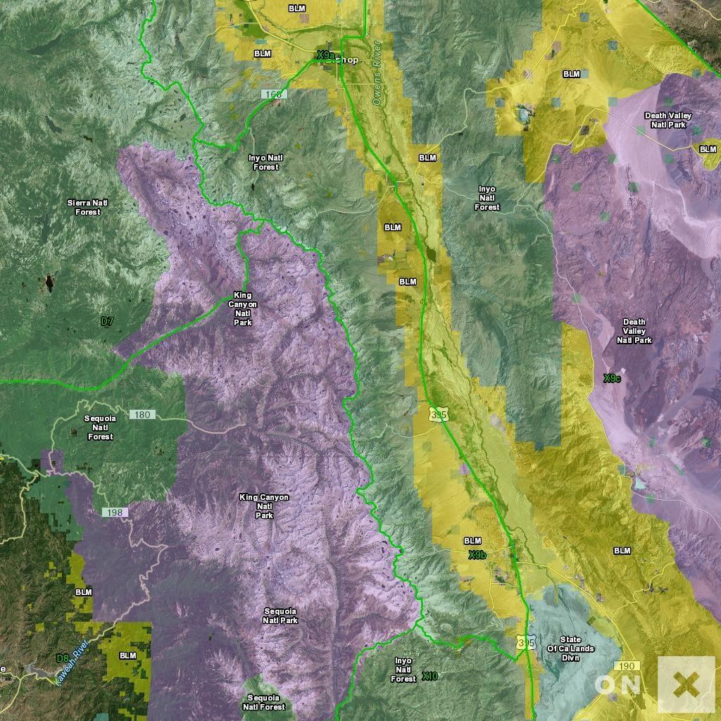 California Hunt Zone X9B Deer - California B Zone Deer Hunting Map