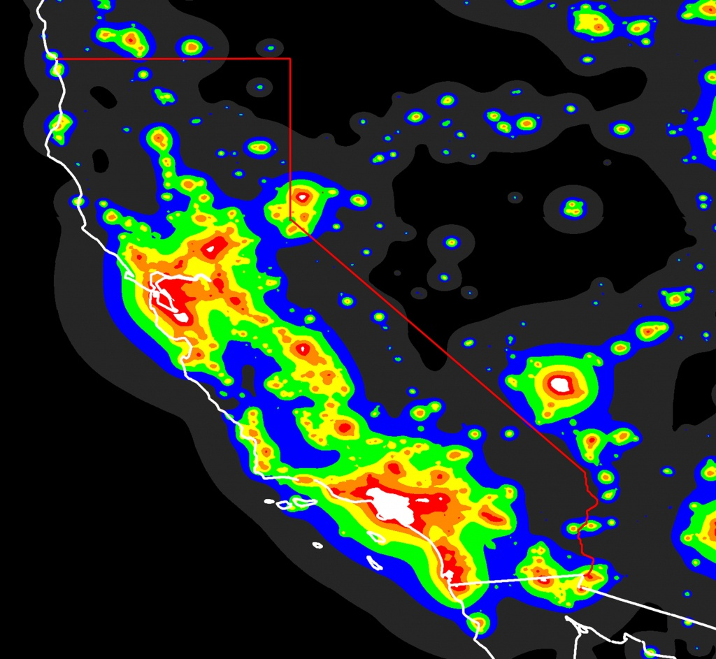 California Light Pollutionstellarscapes - Light Pollution Map California