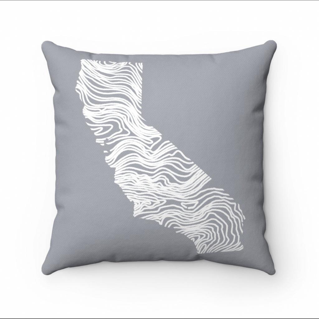 California Map Living Room Decor Map Pillow Throw Pillow | Etsy - California Map Pillow