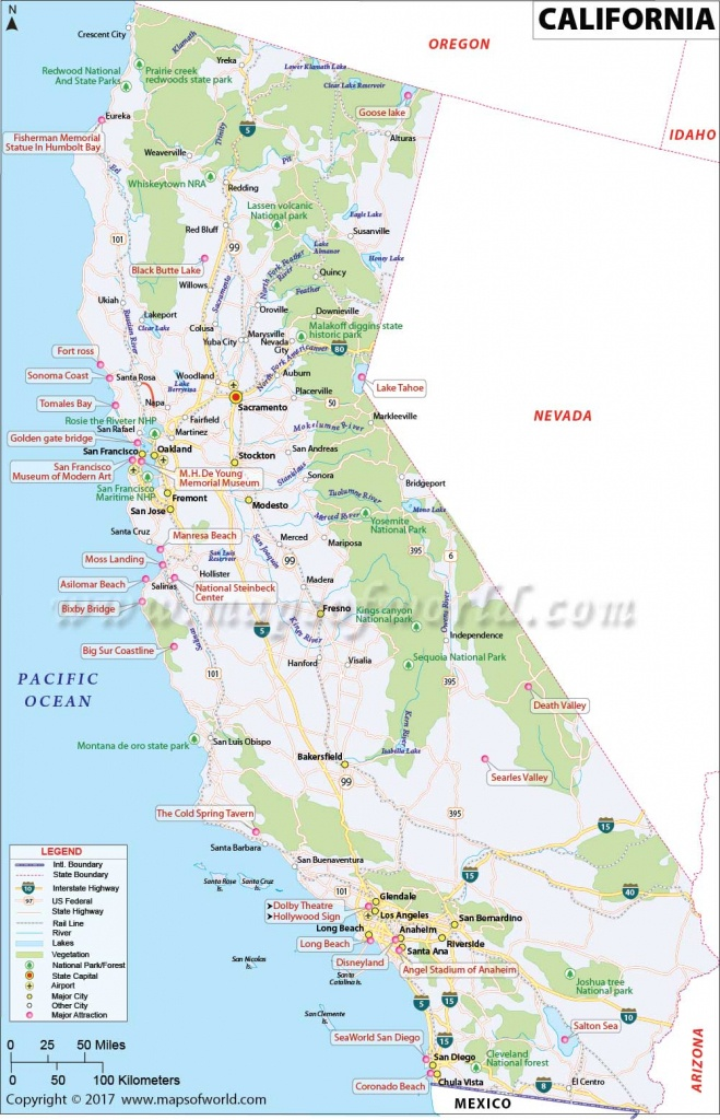 California Map   Map Of Ca, Us   Information And Facts Of California - Map Of California Usa