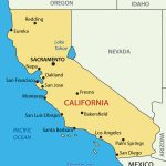 California Map Of Cities And Travel Information | Download Free   Tahoe City California Map