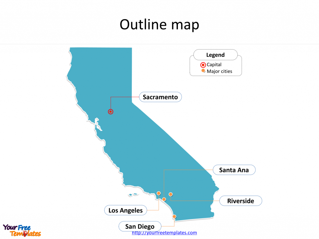 California Map Powerpoint Templates - Free Powerpoint Templates - Free Editable Map Of California Counties
