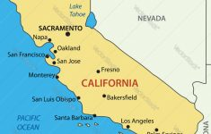 California – Map Royalty Free Vector Image – Vectorstock – Picture Of California Map