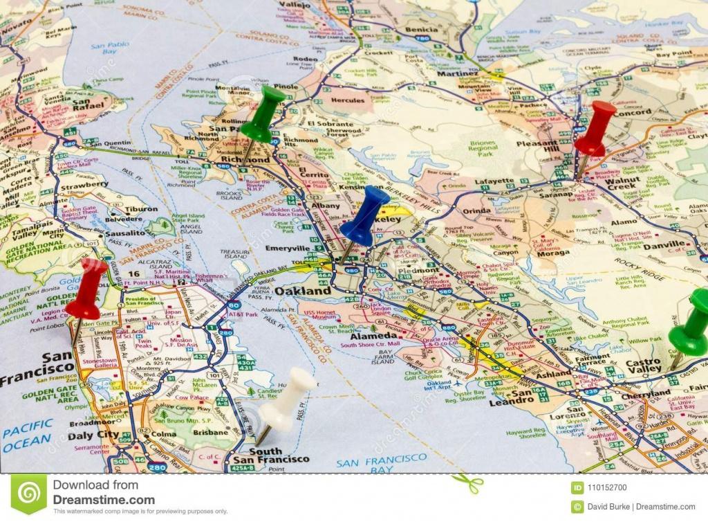 California Map San Francisco Oakland Editorial Image - Image Of - Oakland California Map