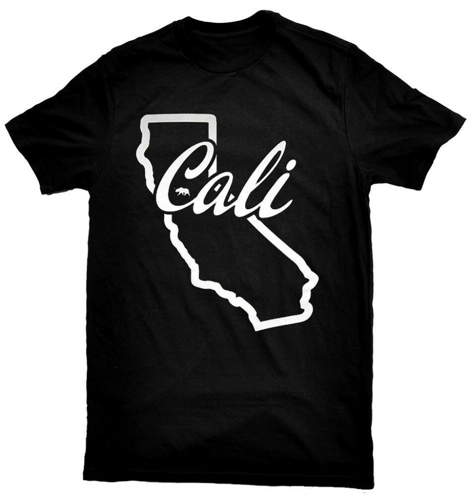 California Map T-Shirt | Ebay - California Map T Shirt