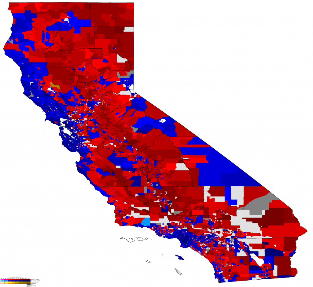California Maps – Ryne Rohla - California Voting Precinct Map