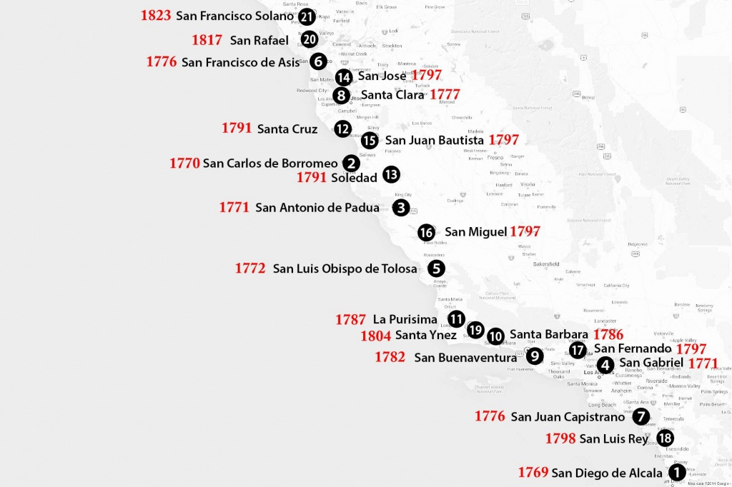 California Missions Map: Where To Find Them - Soledad California Map