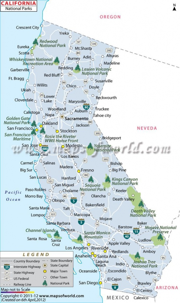 California National Parks Map | Travel In 2019 | California National - National Parks In Northern California Map