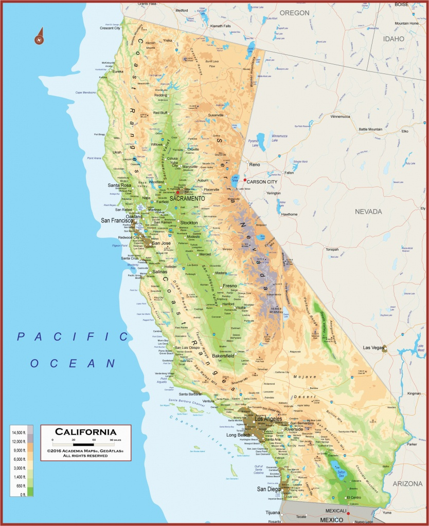 California Physical Features Map California Geography Map Maps - California Geography Map
