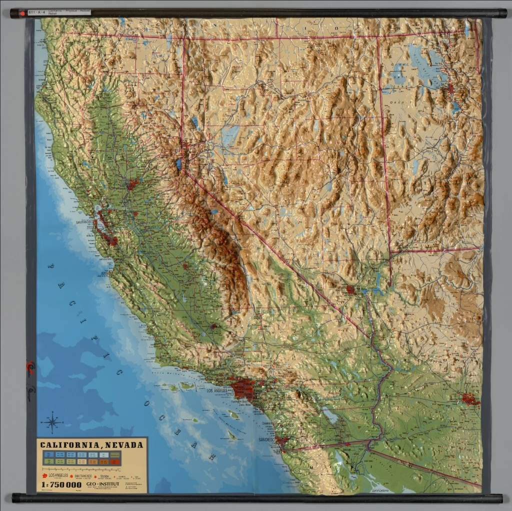 California -- Physical (Raised Relief) - David Rumsey Historical Map - California Raised Relief Map