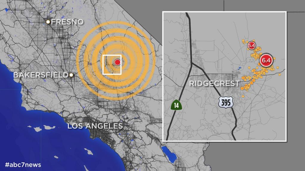 California Quake: Map Shows More Than 245 Aftershocks Since 6.4 - California Earthquake Map