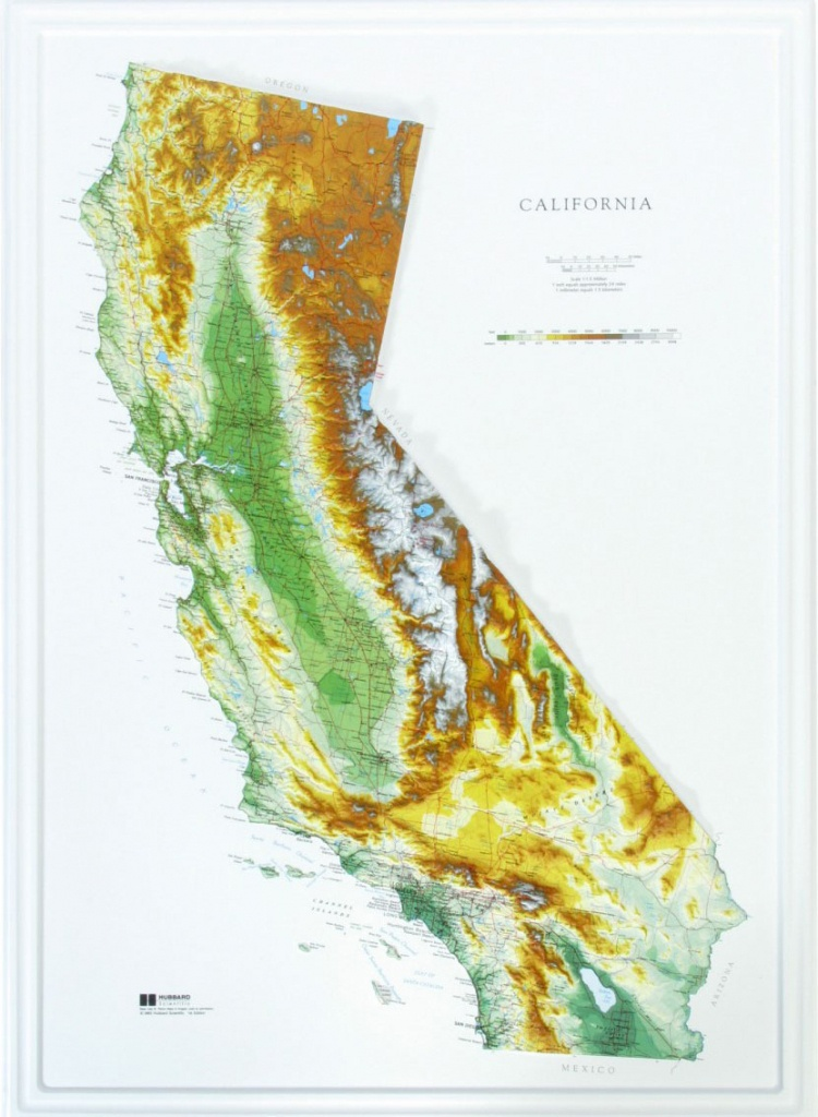 California Raised Relief Map - The Map Shop - California Relief Map