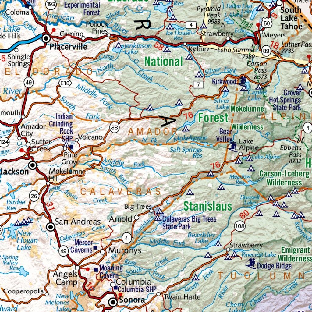 California Road Map - Benchmark Maps - Avenza Maps - Benchmark Maps California