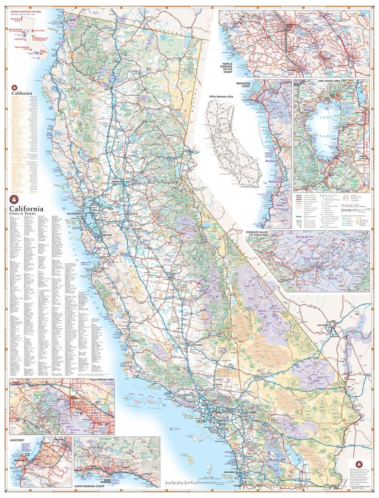 California Road Map — Benchmark Maps - Where Can I Buy A Road Map Of California