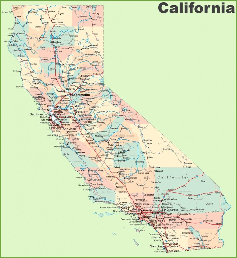 California Road Map - Online Map Of California