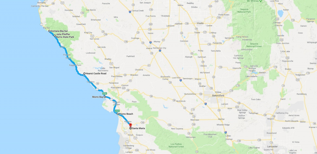 California Road Trip - The Perfect Two Week Itinerary   The Planet D - California Trip Planner Map