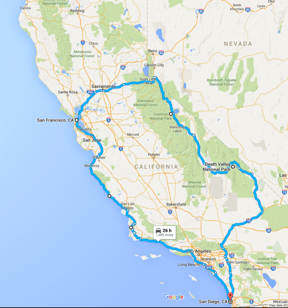 California Rv Road Trip Planner - Roverpass - California Trip Planner Map