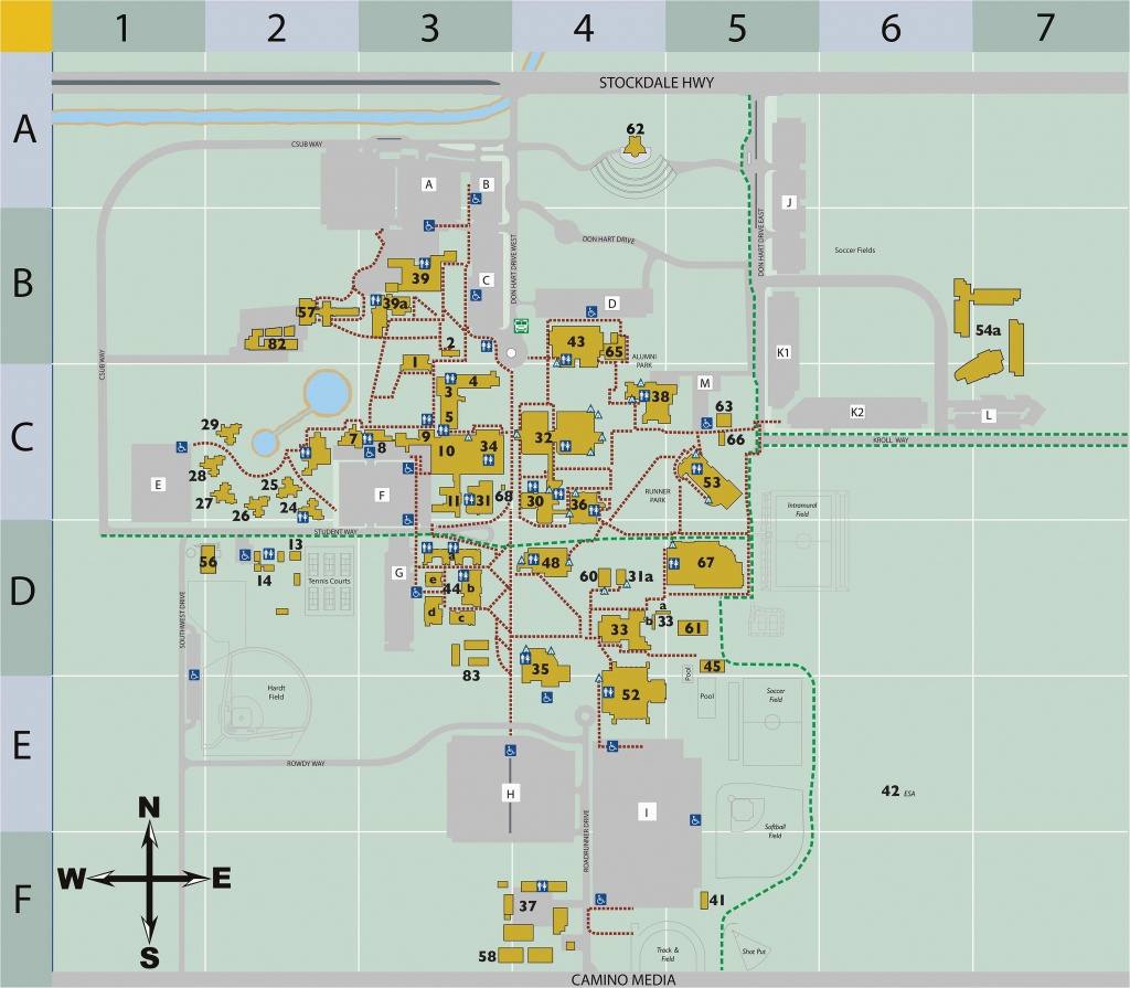 California Science Center Map Campus Map Csu Bakersfield – Secretmuseum - California Science Center Map