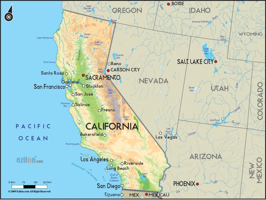 California Simple Map – Portal4Travel Intended For Map Las Vegas Y - Map Of Las Vegas And California