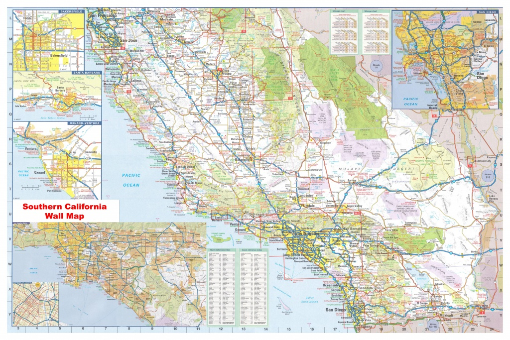 California Southern Wall Map Executive Commercial Edition - Large Map Of Southern California