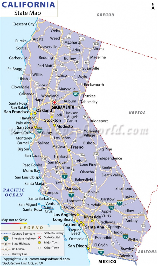 California State Map - Map Of California Showing Cities