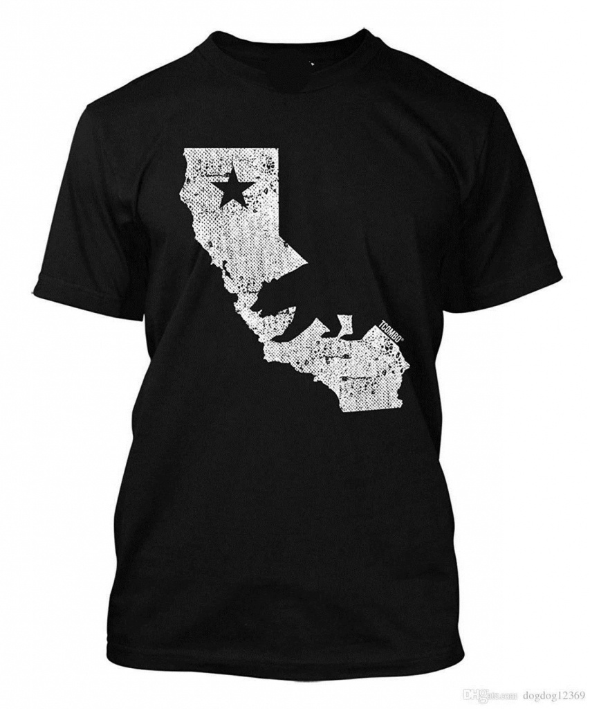 California State Map Men's T Shirt Tee T Shirts Tees T Shirt From - California Map T Shirt