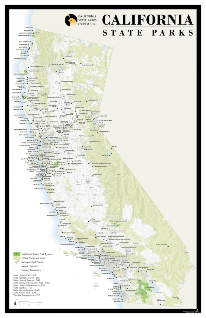 California State Park Foundation: Activities Guide - Map Of California Parks