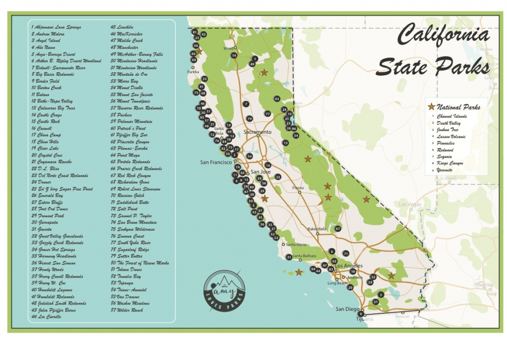 California State Parks Map And Travel Information | Download Free - National And State Parks In California Map