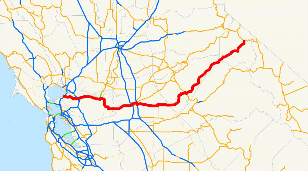 California State Route 4 - Wikipedia - Tracy California Map