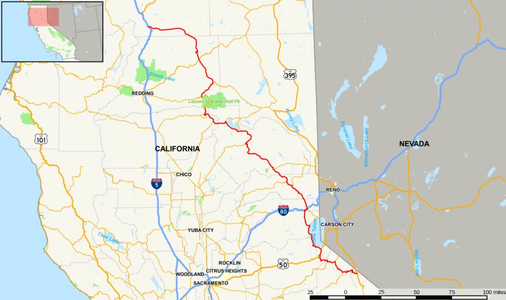 California State Route 89 - Wikipedia - California Scenic Highway Map